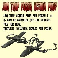 3d jawtrap poser action prop