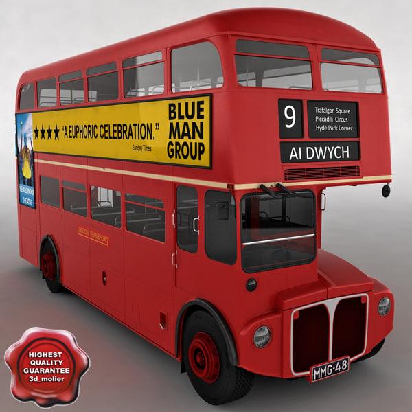 london bus 3d max