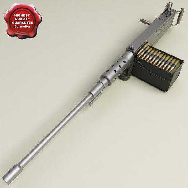 machine gun browning m2hb obj