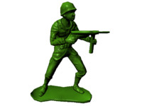 plastic army man 3d model