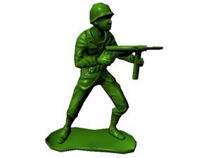 plastic army man 3d model