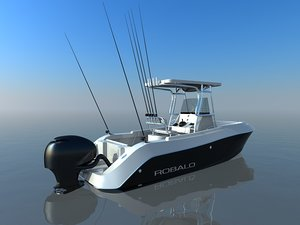 robalo fishing boat 3d model