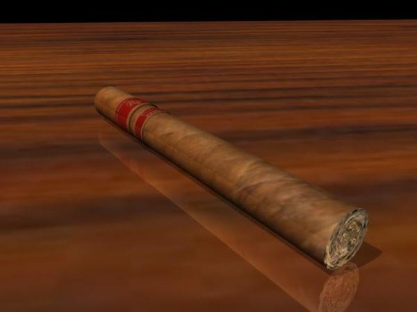 3d rocky cigar model