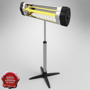 3d model ufo infrared heater