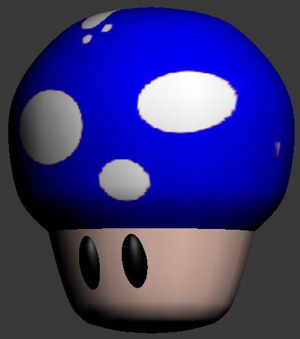 free mini mushroom 3d model
