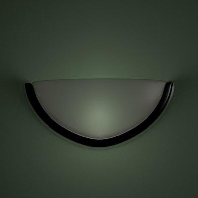 3d model lighting fixture walls