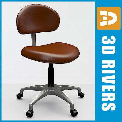 dentist assistant s stool 3ds