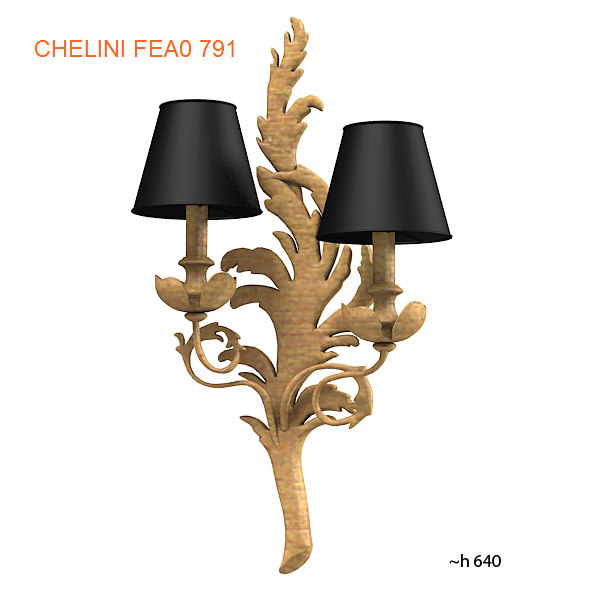 chelini wall lamp 3ds