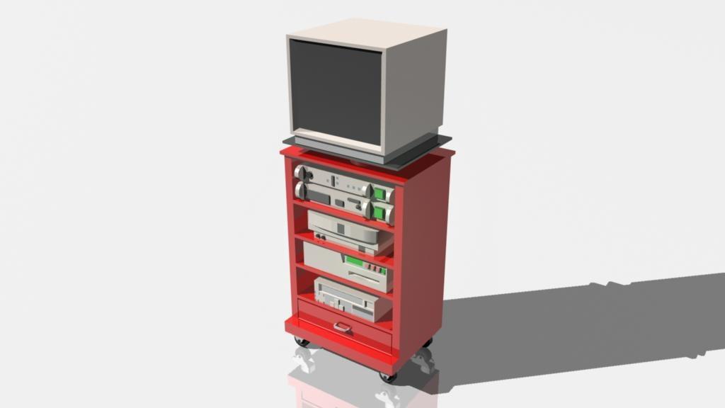 computer cart 3d model