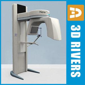 3d model dental panoramic x-ray machine