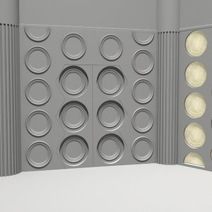 tardis console room doctor 3d model