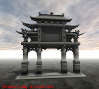chinese gateway 3d max