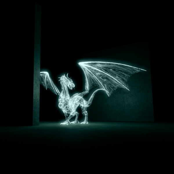 3d model animation lights dragon