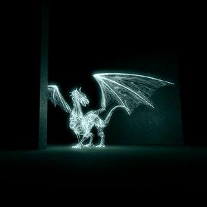 3d model animation lights dragon