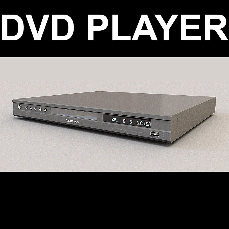 dvd player 3d max