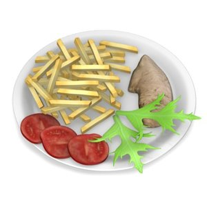3d model of chicken food