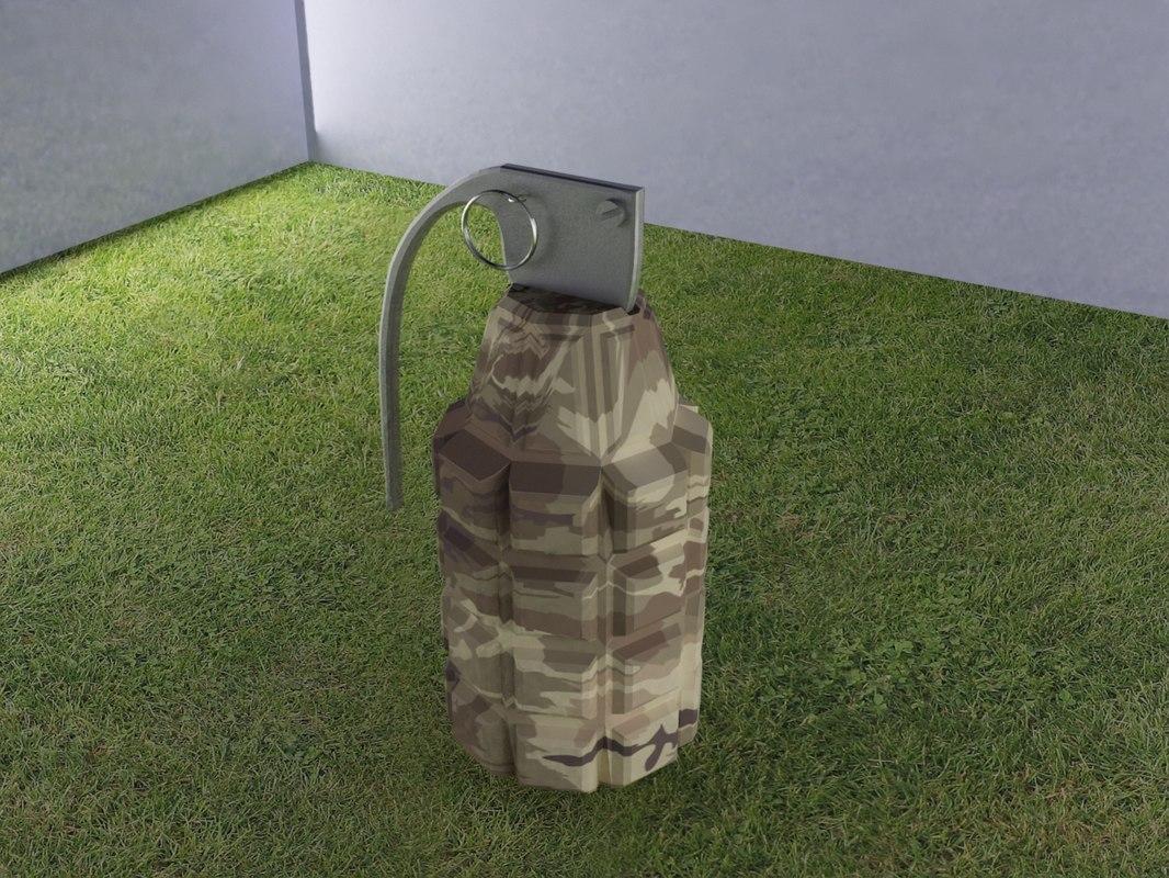 free fragmentation granade 3d model