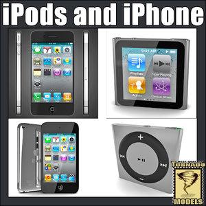 3dsmax apple ipods iphone
