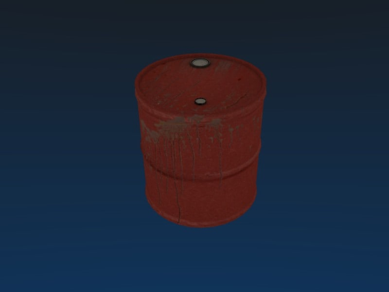 metal barrel obj free
