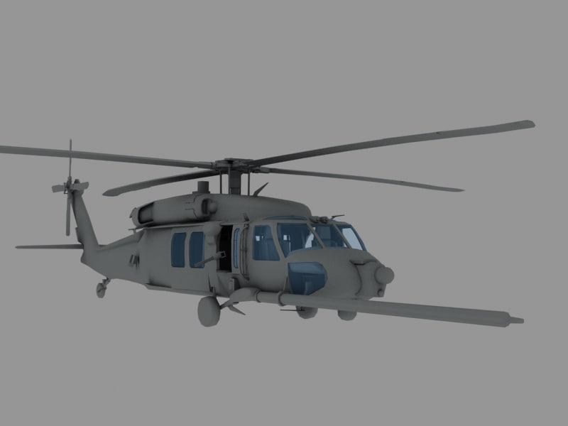 3d mh-60k nighthawk transport helicopter model