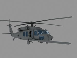 3d mh-60k nighthawk transport helicopter model