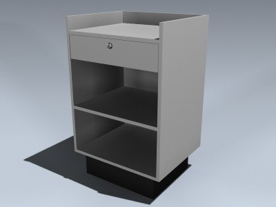 retail checkout stand 3d model
