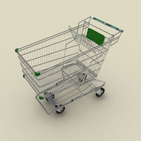 shopping cart 3d max
