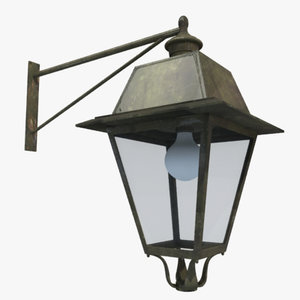 3d model street hanging lantern lighting