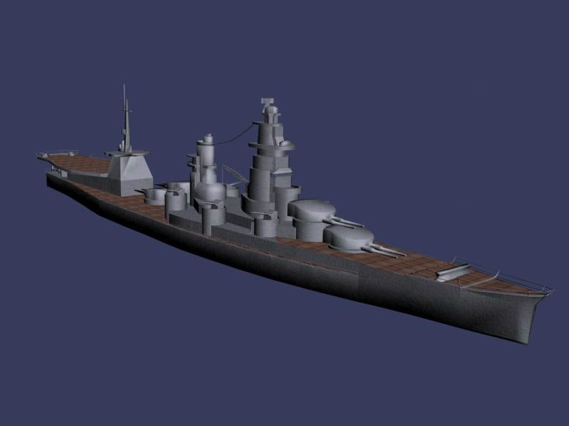 3d model battleship
