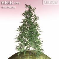 tree high-poly billboard 3d model