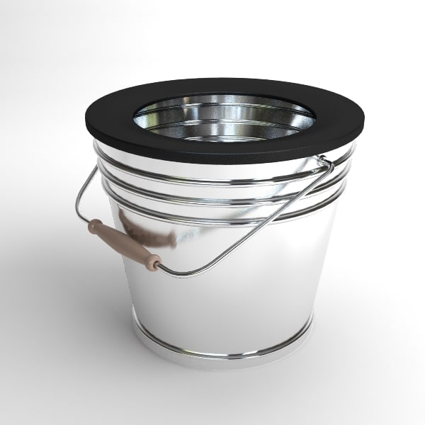 3d bucket contains model