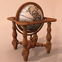 world globe 3d max
