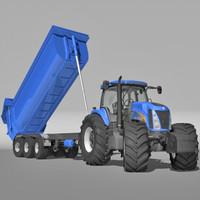 tractor trailer 3d lwo