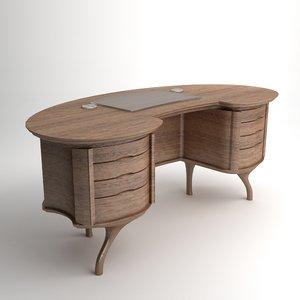 qualitative bean desk 3d model