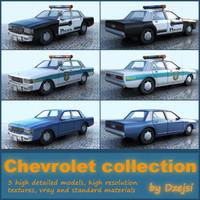 chevrolet caprice police car 3d model