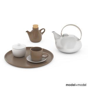 heath ceramics tea set 3d 3ds