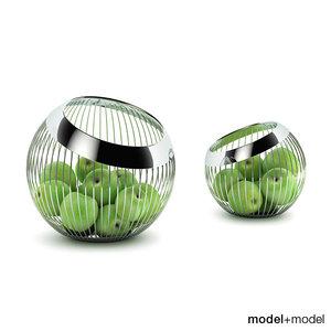 lounge baskets wmf green 3d model