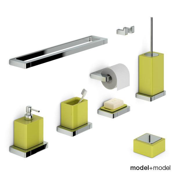 set bath accessories newform 3d max
