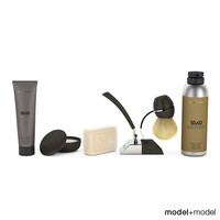 shaving set 3d dxf