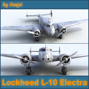 3d model lockheed l-10 electra