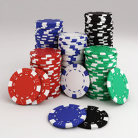poker chips stack 3d model