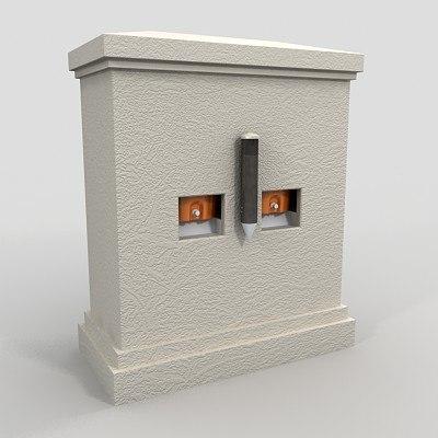 3d stucco water cooler model