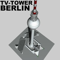 berlin tv tower landmarks c4d