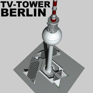 berlin tv tower landmarks c4d