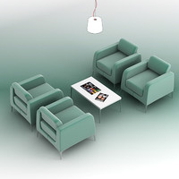 3dsmax chair coffee table