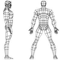 super hero character 3d model