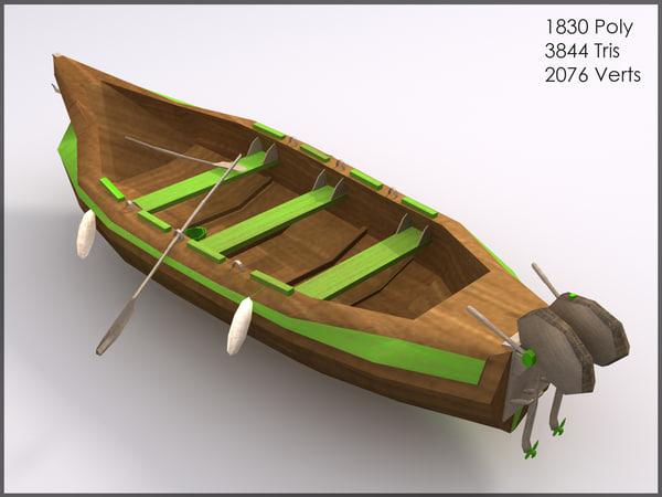green boat games 3d model