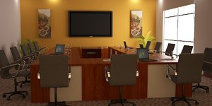 conference room 3d 3ds