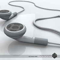 headphones ears earphones 3d model