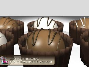 truffles dark milk 3d model